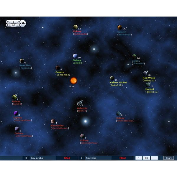 Space Invasion Game Screenshot - strategy game