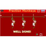 Algebra Fraction Monkeys Game - Free Online Math Games