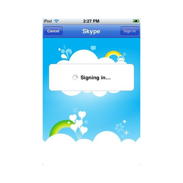 Sign in with your Skype login