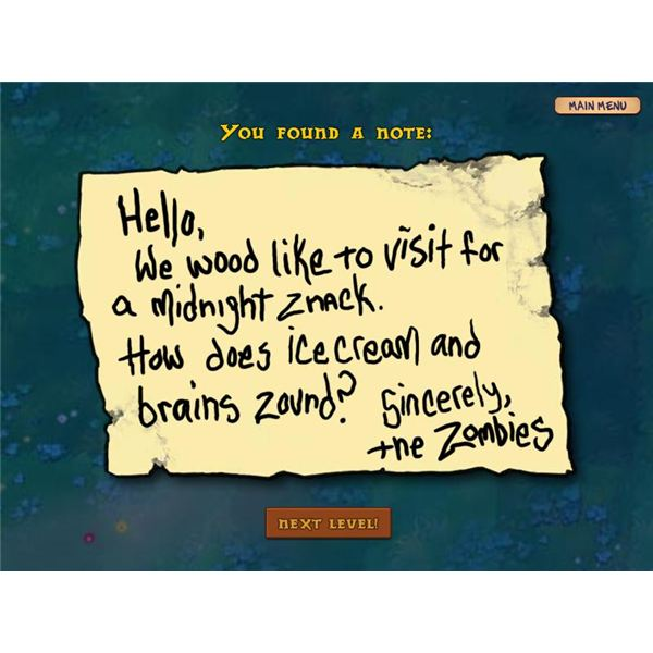 PvZ Zombie Note for 2-9