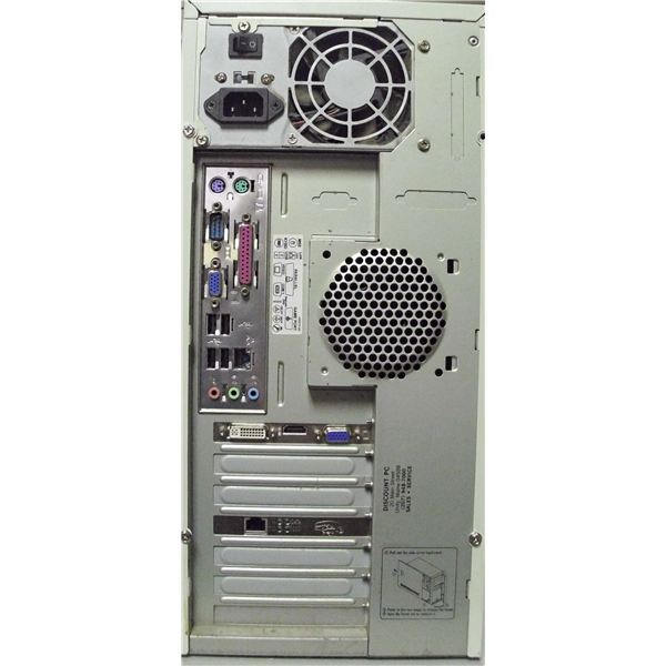 Rear PanelShowing Video Card and On Board Video