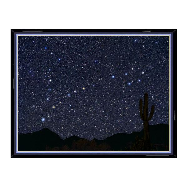 This photo of the constellation Pisces shows, enlarged in their true color, the main
