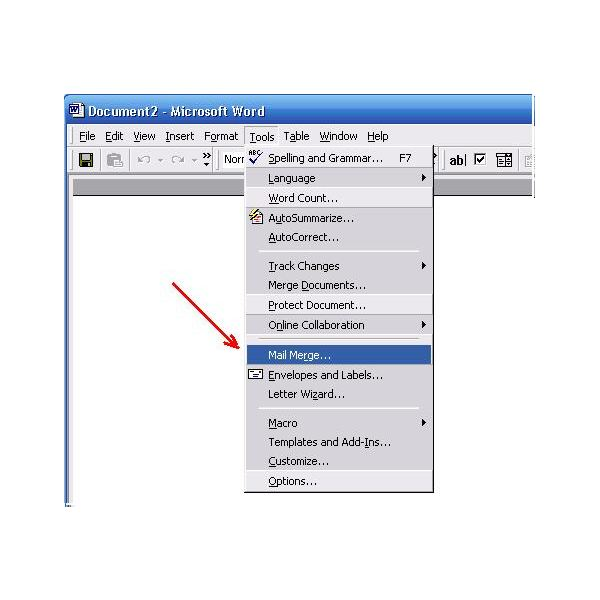 Microsoft Word Mail Merge Instructions
