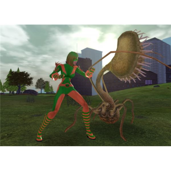 Girl Gamer in City of Heroes