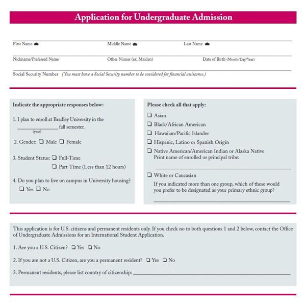 College Application: Undergraduate