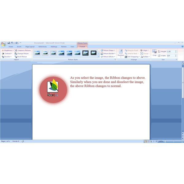 Fig 4 - MS Office 2007 Features - Contexual Menus