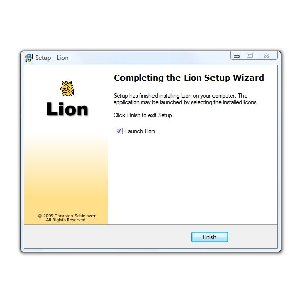 Lion Install 6 Installation Complete