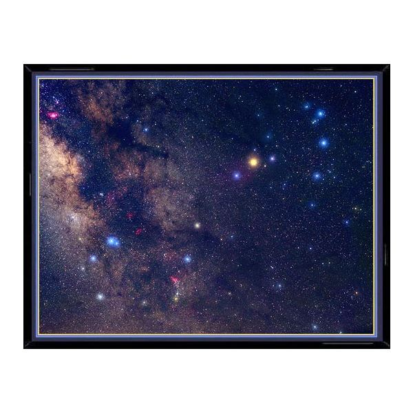 This photo of the constellation Scorpius shows, enlarged in their true color, the main