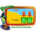 Clean Up Your Grammar is one of the free computer grammar games published by Scholastic.