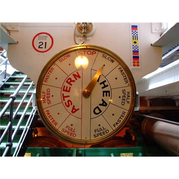 Ships Telegraph for speed control