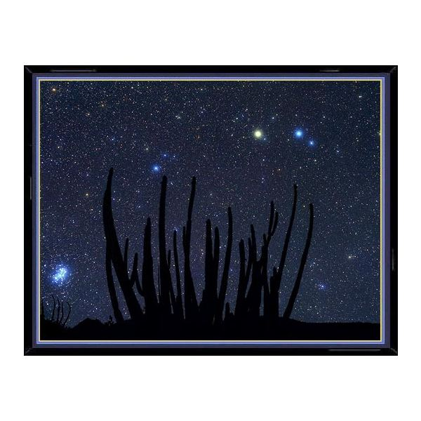This photo of the constellation Aries shows, enlarged in their true color, the main