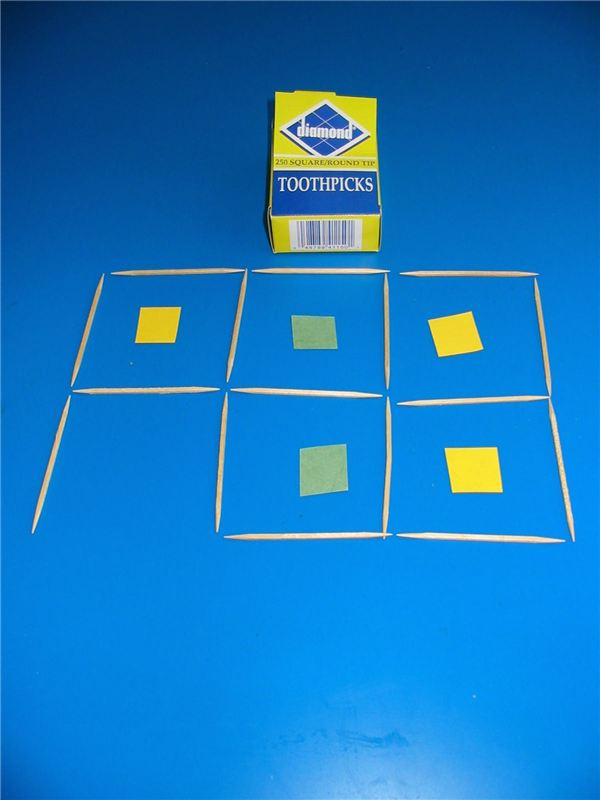 Toothpick Square Game (Fine Motor, Problem Solving)