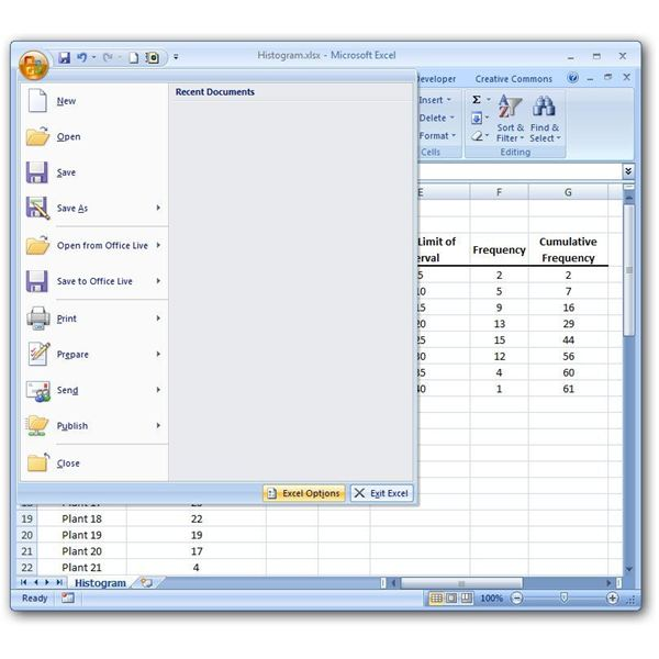 Excel Options