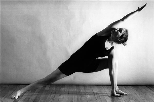 Yoga yoga this black and white photo