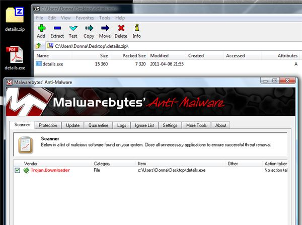 Malicious Attachment of Phished Delivery Express Email