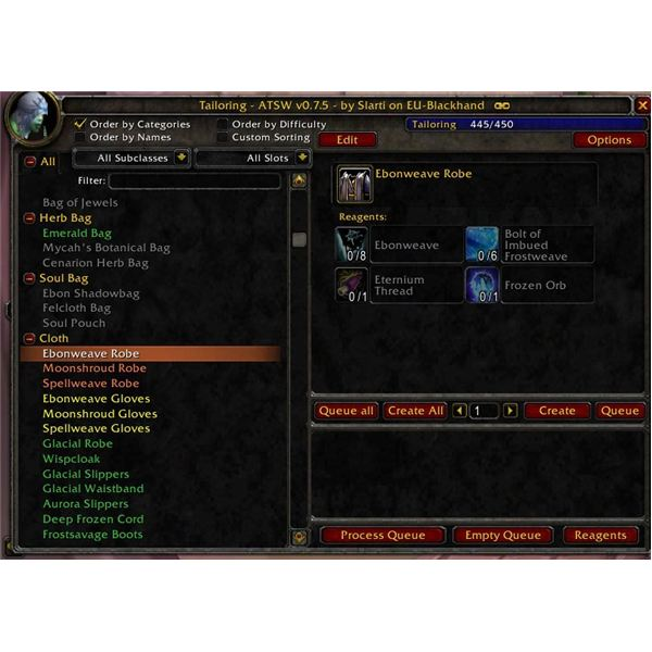 WoW Tailoring Guide for 3 2 and beyod - (WoW Trade Skill Guides)