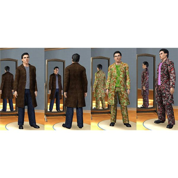 Sims 3 Clothing Downloads - Trenchcoat Package