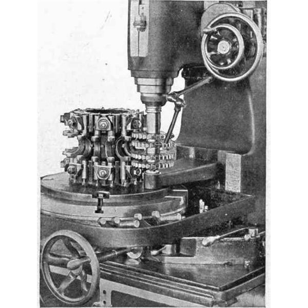 Fig.2. Vertical Milling Machine in Action. Work