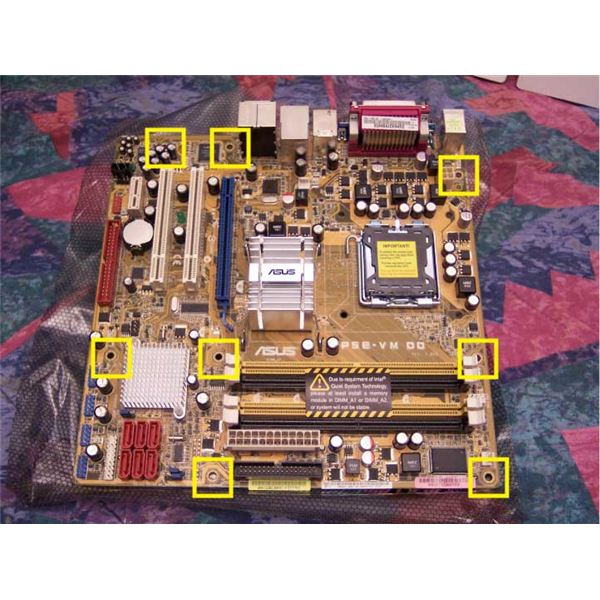 mobo mounting Holes