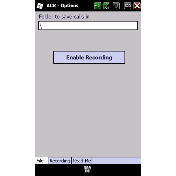 Main Auto Call Recorder screen