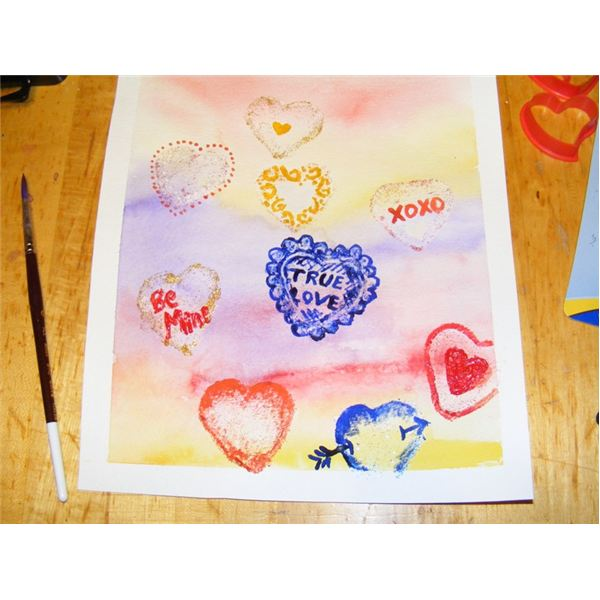 A Watercolor Valentine's Day Painting Lesson Hearts For. Valentines Messages. Middle School. Valentine S Day Worksheet For Middle School At Clickcart.co