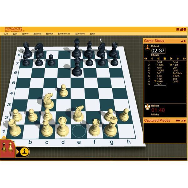 How to open a game of chess in Chessmaster 10th edition