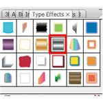 Adobe Illustrator CS3 Buttons - silver chrome buttons with black bullets - effect