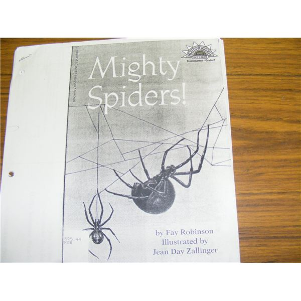 Mighty Spiders Book