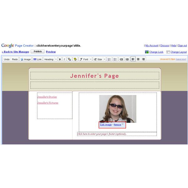 Figure 2: Use the photo toolbar to manipulate and change your pictures.