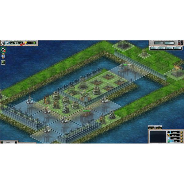 Battle Pirates: Moat Layout With Squares