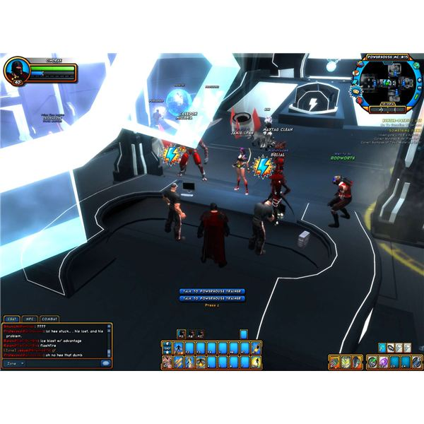 Champions Online User Interface and Hotkey Bars