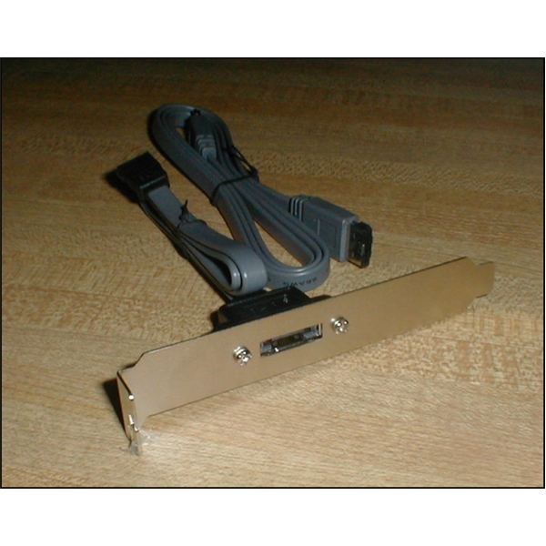 3. The SATA to eSATA adapter for the PC.