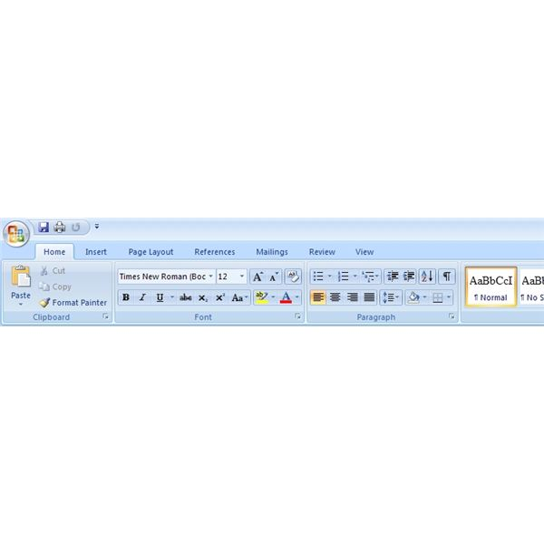 Figure 1: The Microsoft Office Word 2007 Ribbon