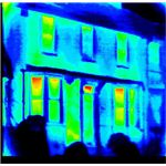 Infrared image of a house - photo courtesy of Epogee Ltd