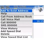 New Contacts Option added in Call and Message Log