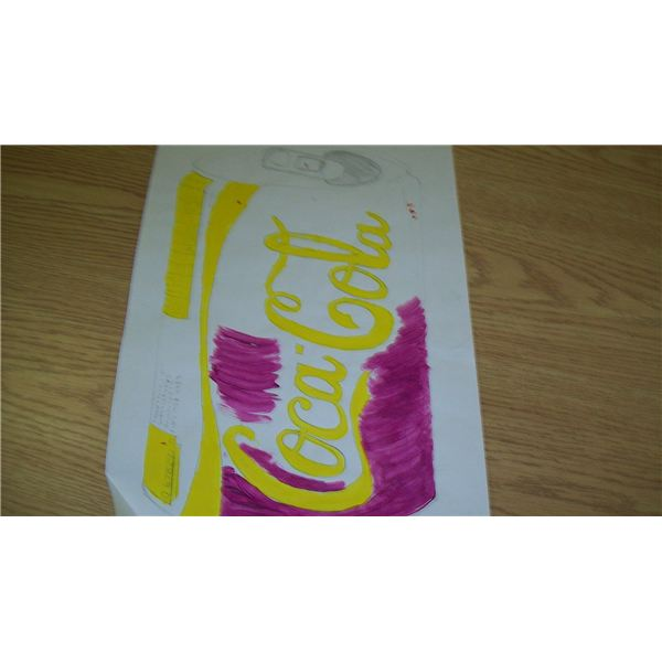 Coke in purple and yellow