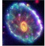 CartWhell Galaxy - photo by GALEX