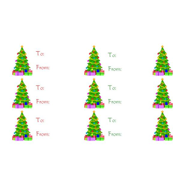 christmas gift labels templates word