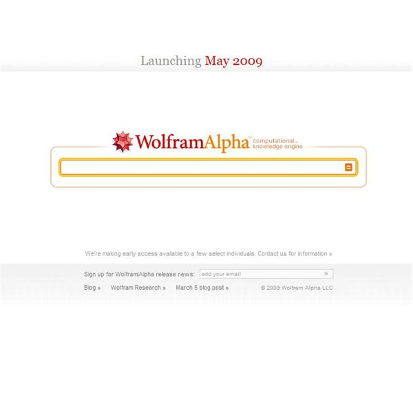 Wolfram Alpha front page