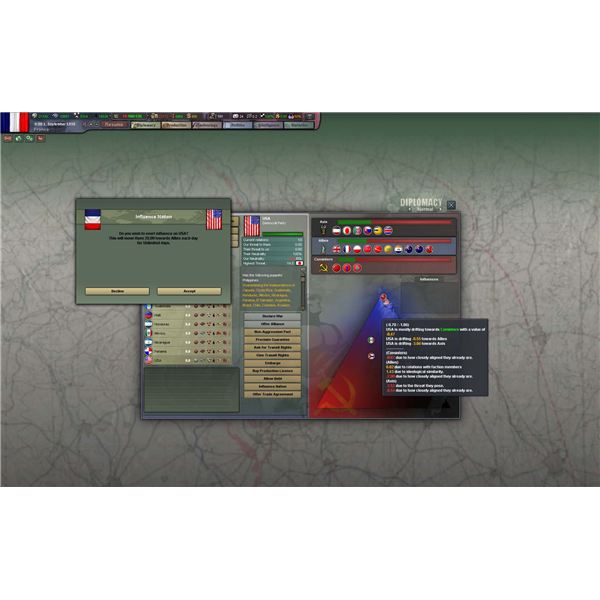 Hearts of Iron III Diplomacy View