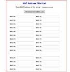 MAC Address Entry