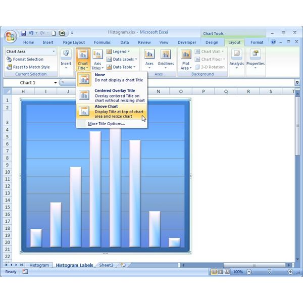 How to add labels to an excel 2007 chart adding a title to a chart ccuart Image collections