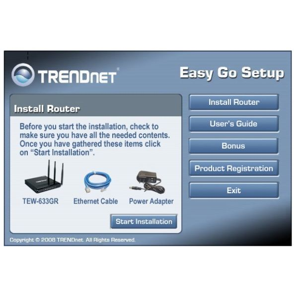 Install Router Check Components
