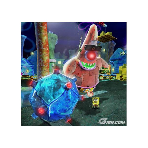 Screenshot of Battle with Patrick Outside of the Spitoon