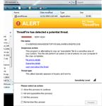 ThreatFire Blocks Malware Executable