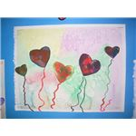 Cut out hearts on background