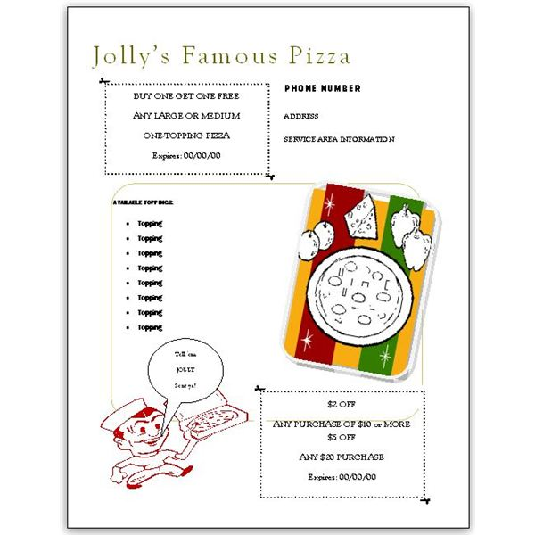 flyer pizza menu template - Free Menu Templates Download