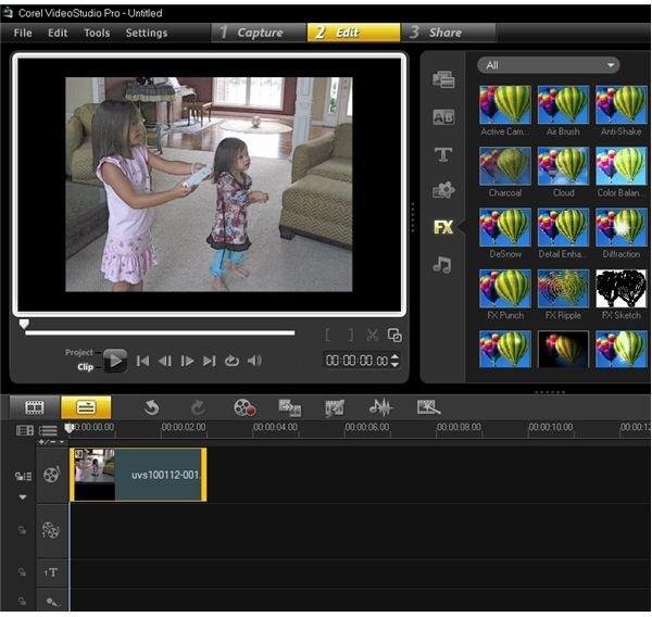 VideoStudio Pro X3 User Interface