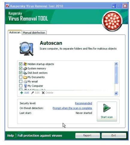 Kaspersky Virus Removal Tool IS 2010 Working 100