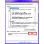 Fig 2 - Problems with Internet Explorer 9 - Reset IE9